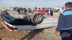مصرع واصابة 4 مدنيين بحادثين في ديالى وصلاح الدين