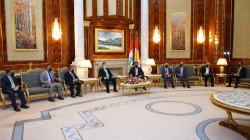 بارزاني يبحث مع وفد المحافظات العراقية دعم القطاع الخاص