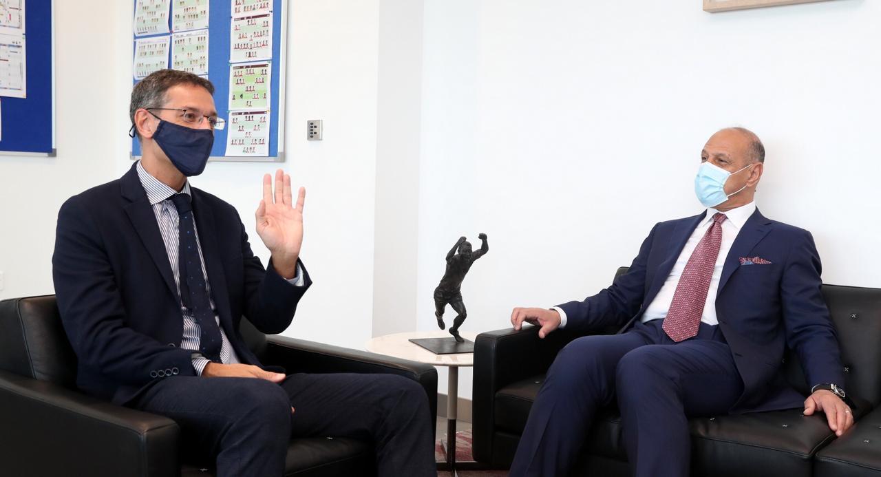 """العراق يبرم اتفاقية مع """"اسباير"""" لتطوير كرة القدم"""