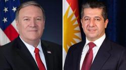 باتصال هاتفي مطوّل.. بومبيو وبارزاني يبحثان حلّ الخلافات بين بغداد واربيل