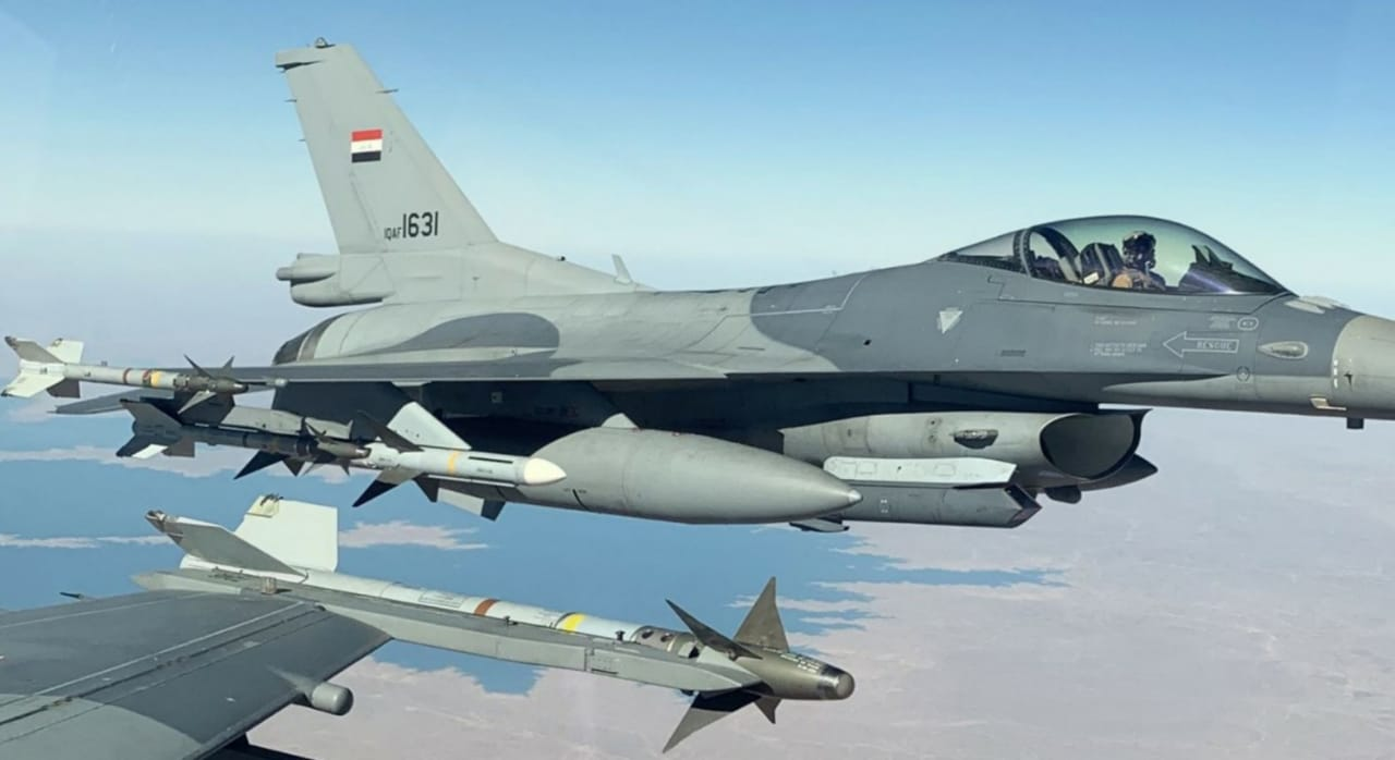 Iraqi Army prepares for its anniversary in the skies of Baghdad