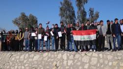 عقود مفوضية انتخابات نينوى يهددون بالإضراب العام.. صور