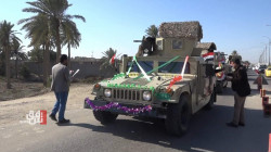 Al-Anbar residents salute the Iraqi army units on the centenary of its establishment