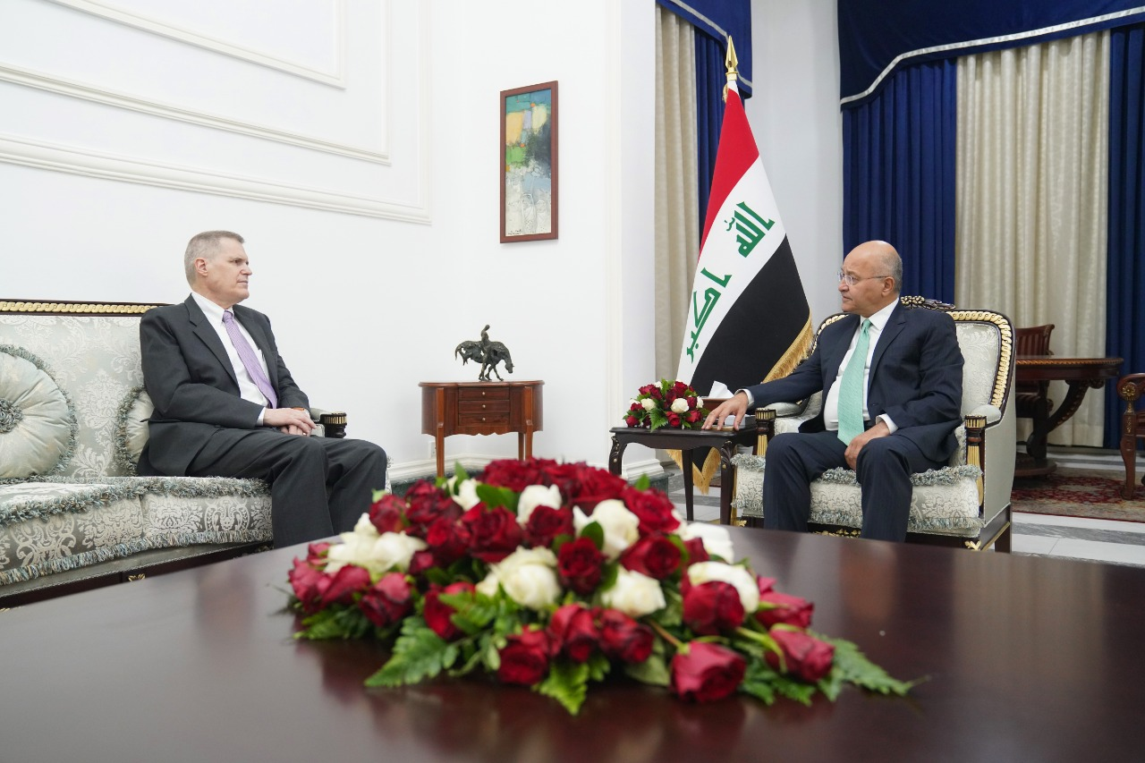The Iraqi president and the US ambassador affirm the rejection of escalation and respect for sovereignty 1610021851685
