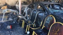 صور .. حريق يأتي على معرض للسيارات في دهوك ويُلحق اضراراً فادحةً
