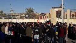 المئات من محاضري ديالى يتظاهرون احتجاجا على خروقات التعيينات
