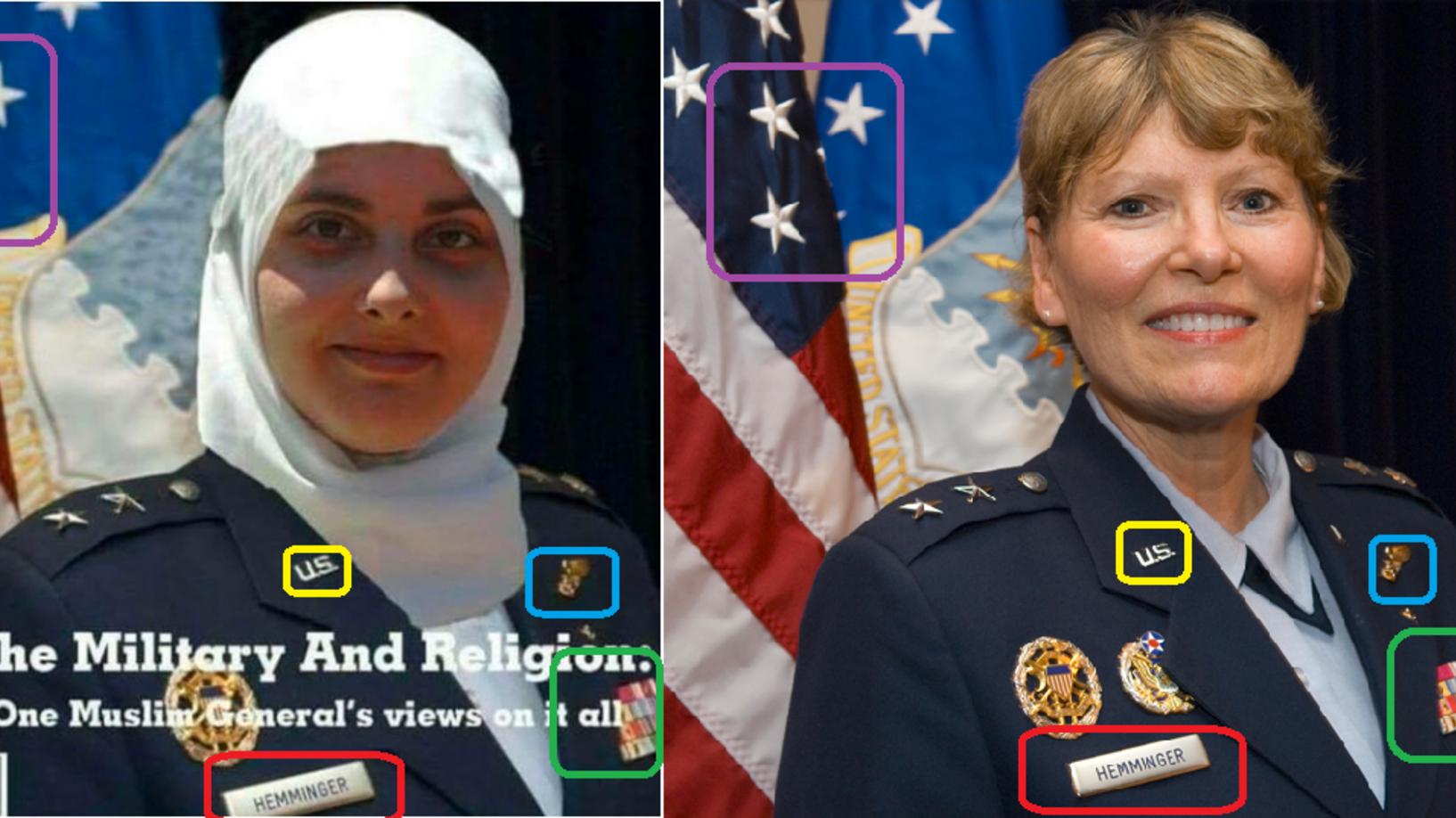 محجبة تتقلّد رتبة رفيعة في سلاح الجو الأميركي؟ صورة مفبركة تحصد آلاف التفاعلات