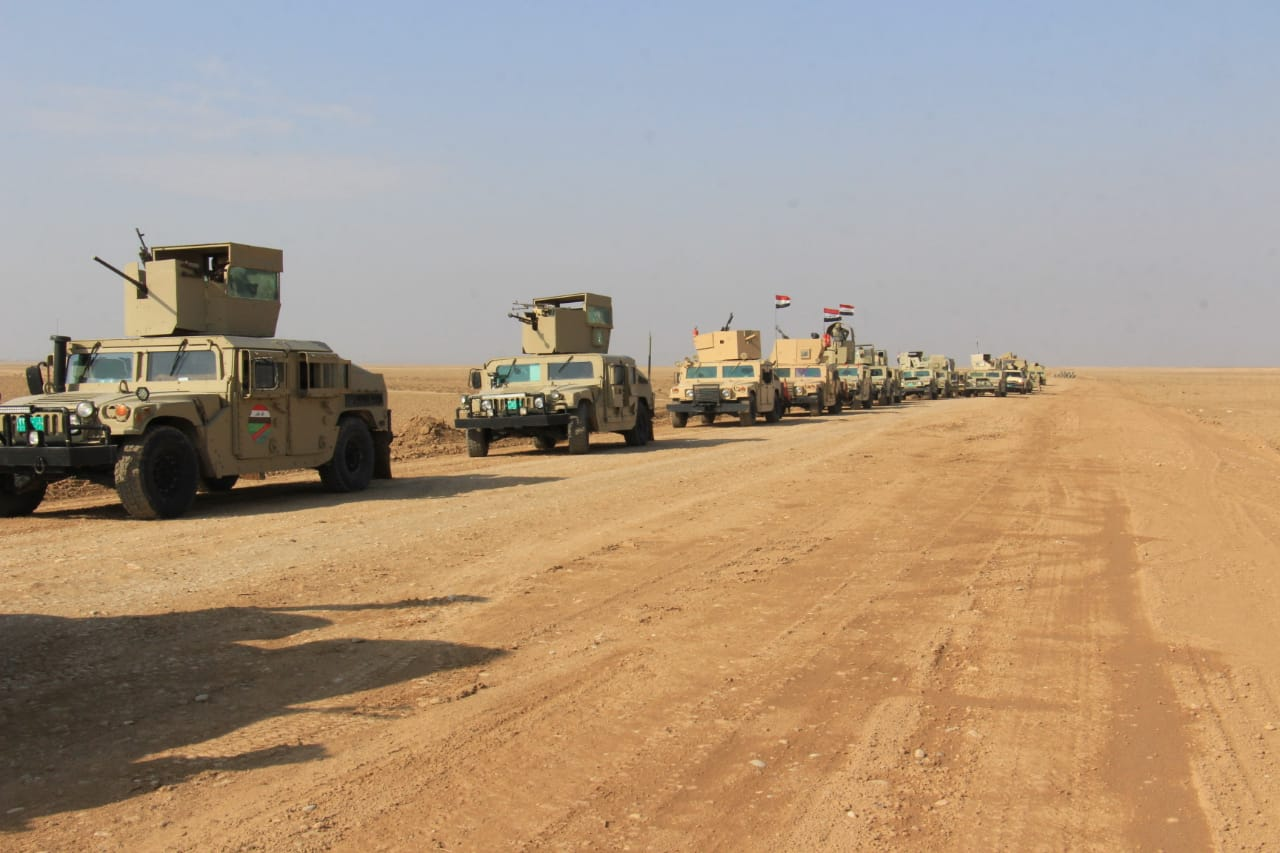 Iraqi forces destroy a booby-trapped house between Diyala and Kirkuk