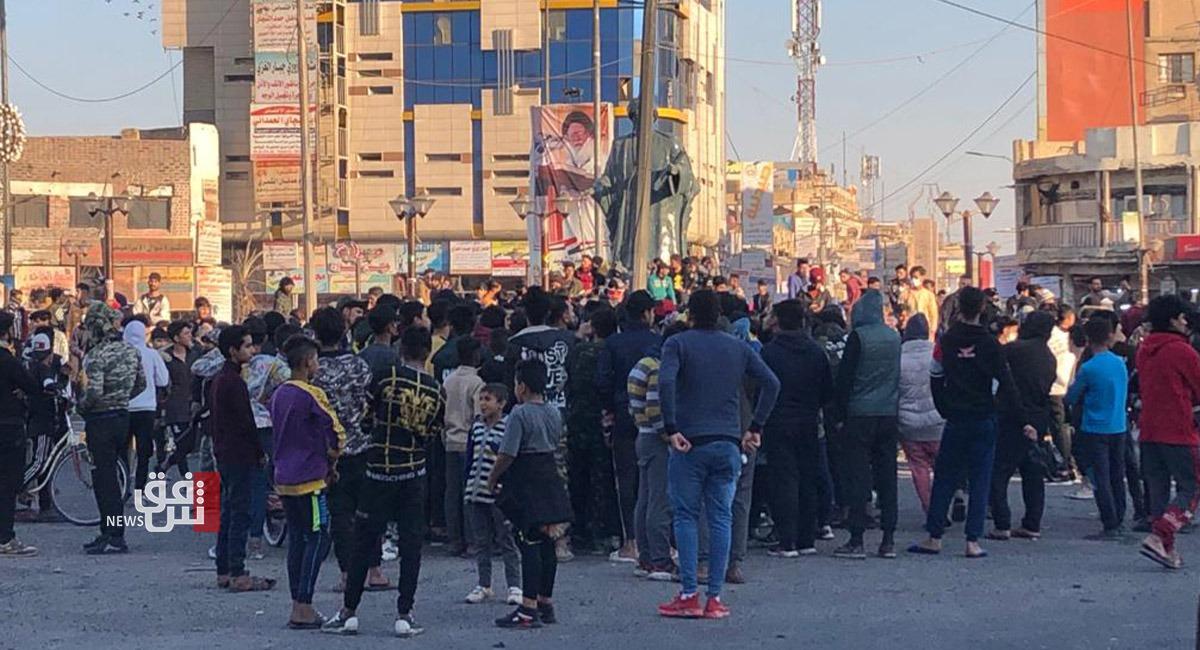 Hundreds of demonstrators gather in Haboubi Square