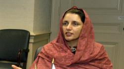 وزيرة التصنيع العسكري الباكستاني في بغداد