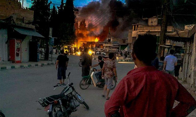 قتلى وجرحى بتفجير انتحاري في تل أبيض السورية