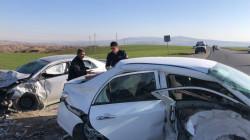 9 جرحى بحادث تصادم في أربيل