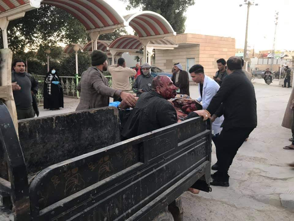 """أكثر من عشرين جريحاً بانفجار داخل فرن """"صمون"""" في محافظة الديوانية"""