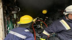 اندلاع حريق بمحال للادوات الاحتياطية وسط بغداد