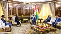Kurdistan PM hosts the Yazidi activist Nadia Murad