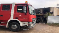 انتشال جثة وإنقاذ خمسة اخرين من أُسرة حاصرتهم النيران داخل منزل وسط بغداد (صور)