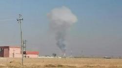 Fires break out in an oil Tank in Mosul