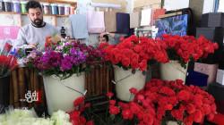 صور.. السليمانية تنبض بالحب واللون الأحمر سيد المشهد