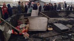 مصرع رجل وطفليه بحريق اندلع في مخيم للنازحين في إقليم كوردستان