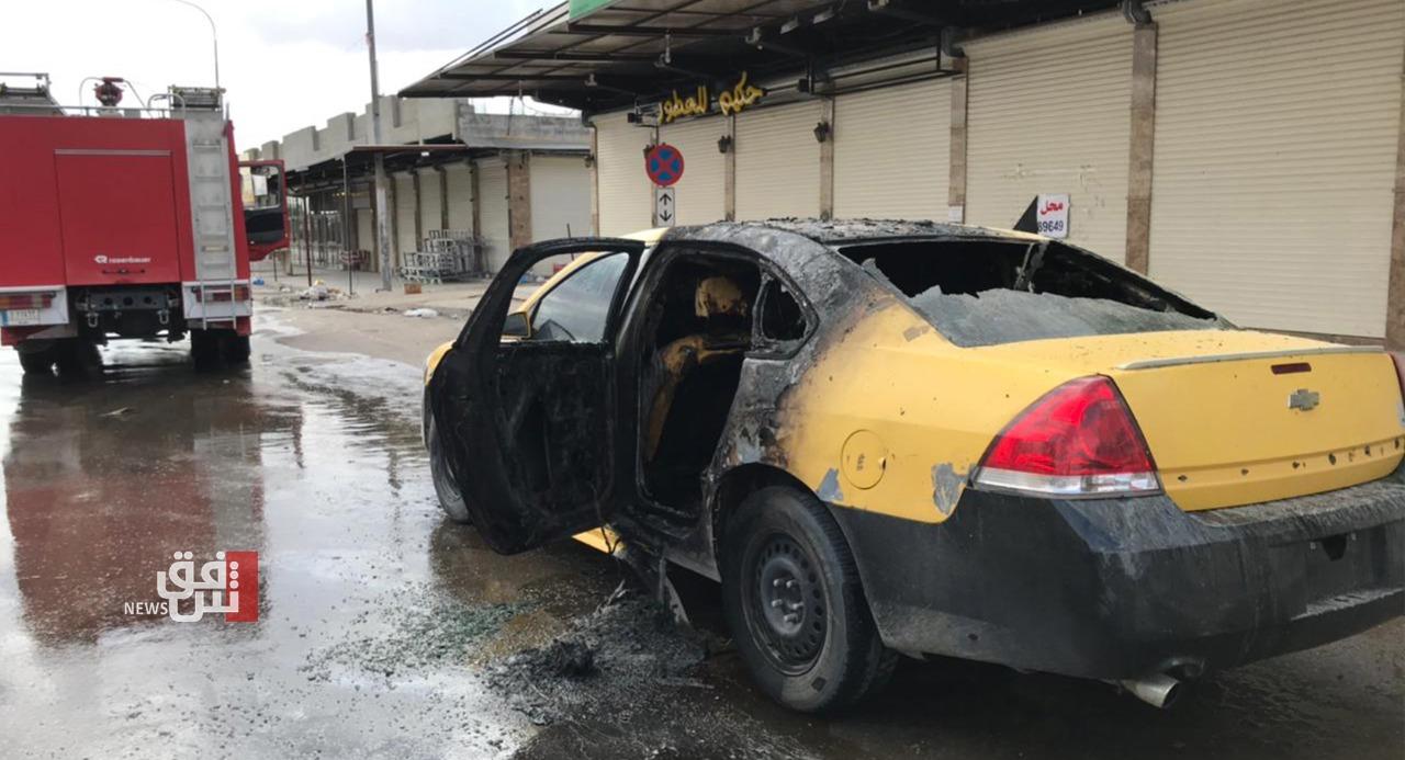 صور .. عراقي يضرم النار بجسده بعد فرض غرامة مالية عليه لخرقه حظر التجوال