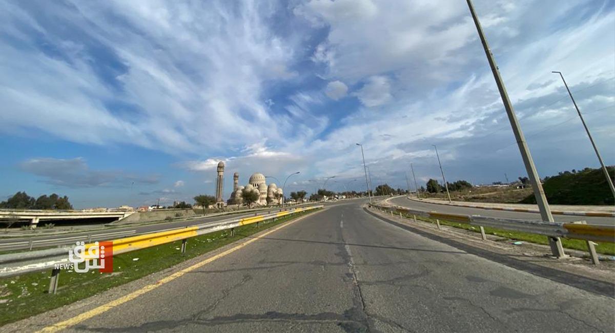 اهالي الموصل يلتزمون بتنفيذ حظر التجوال الشامل (صور)