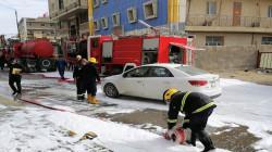 الدفاع المدني ينقذ 11 عاملا اجنبيا احتجزوا في حريق فندق وسط كربلاء