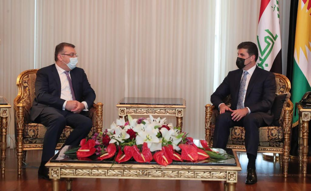Kurdistan's President to consolidate the Iraq-Kurdistan relations together with Armenia