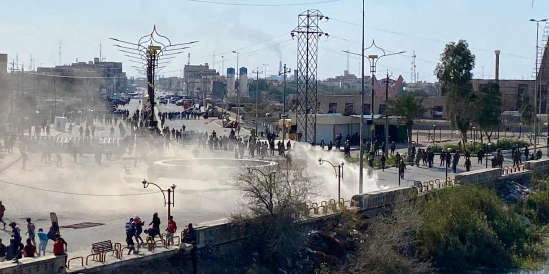القوات تفرض سيطرتها على مناطق الاحتجاج في الناصرية