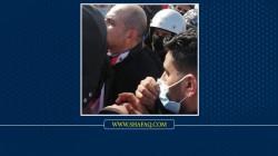 إصابة علاء الركابي بجروح اثناء محاولته انهاء الاحتجاج في الناصرية (فيديو)