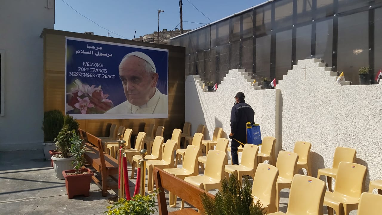 Baghdad's Churches are sterilized, closed until the Pope's arrival