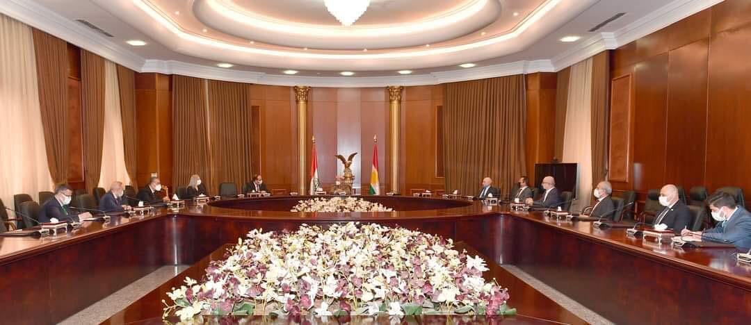 Masoud Barzani receives a delegation of the Syrian National Coalition