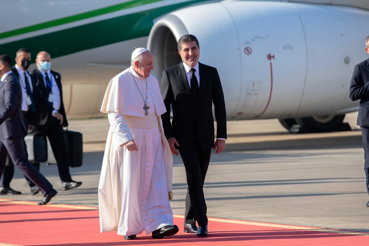 The Presidency of the Kurdistan Region announces the details of the meeting of Nechirvan Barzani and the Pope of the Vatican 1615110935234