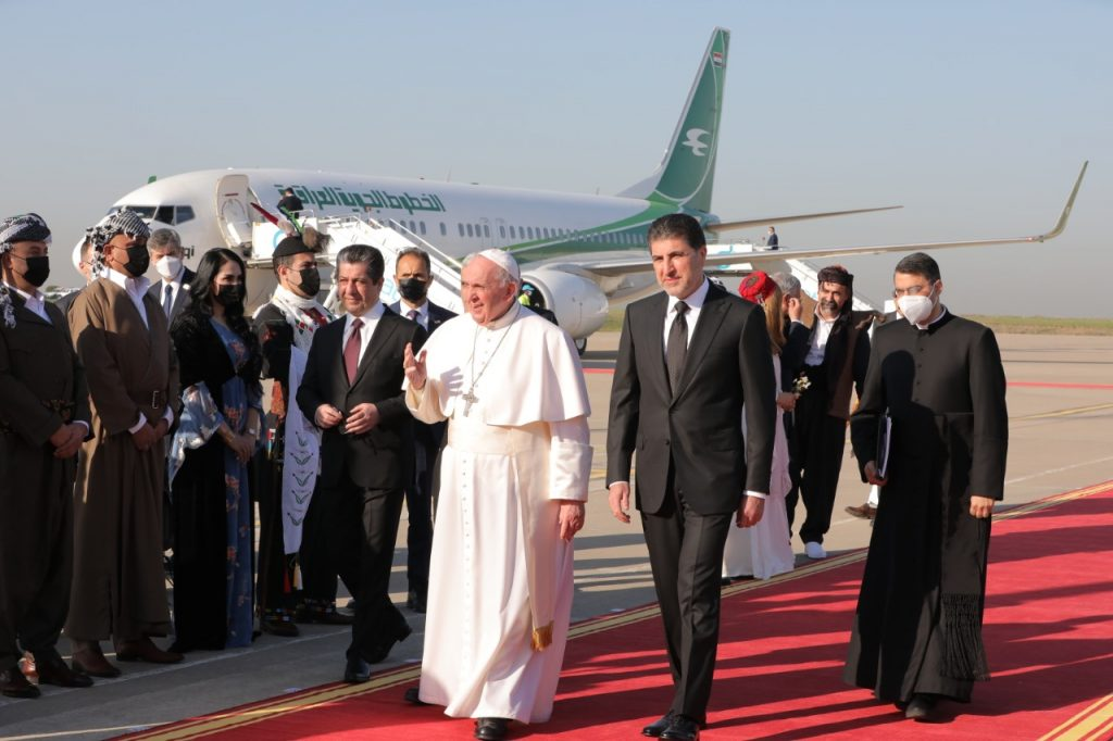 The Presidency of the Kurdistan Region announces the details of the meeting of Nechirvan Barzani and the Pope of the Vatican 1615111997835