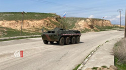 Russian police conduct a patrol in AANES