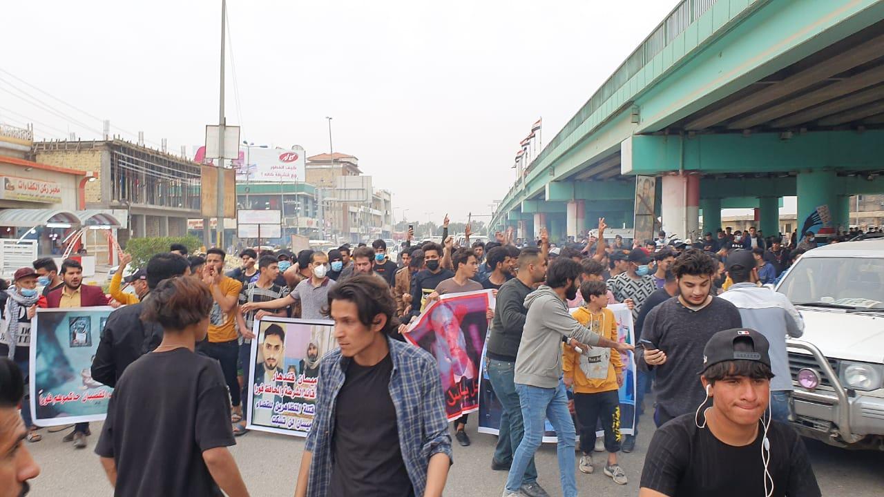 صور.. تظاهرة حاشدة في ميسان تطالب بإقالة قائد الشرطة