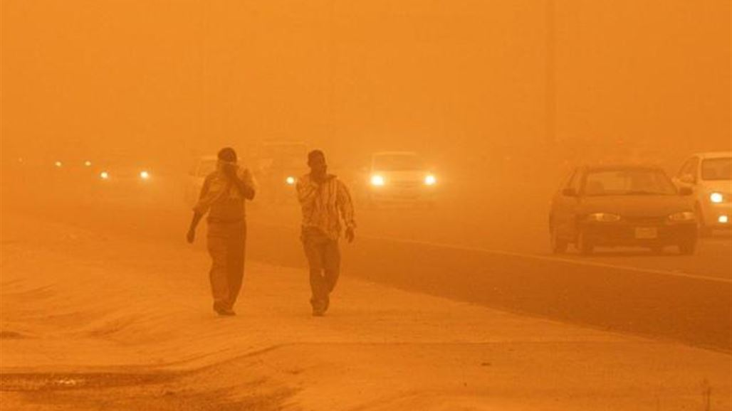 Security forces take precautionary measures in preparation for an upcoming dust storm