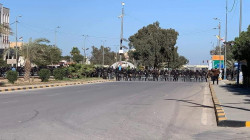 Clashes broke out between demonstrators and security forces in Najaf