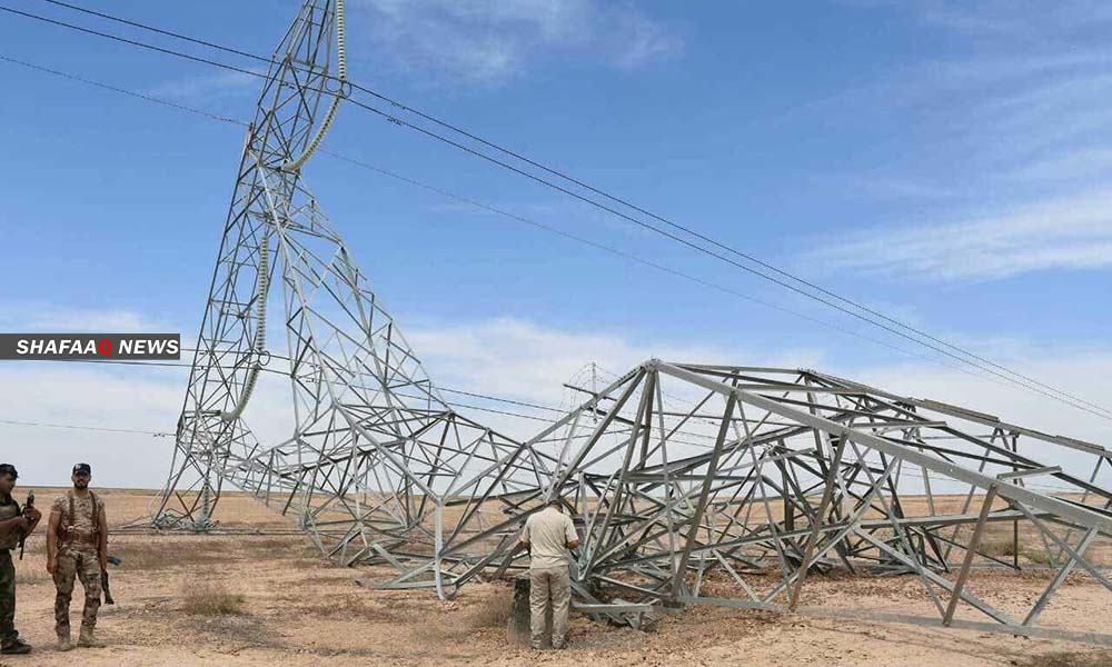 هجوم جديد.. انفجار يوقع برجاً للكهرباء شمال بغداد
