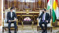 Masrour Barzani hosts the Japanese Ambassador to Iraq