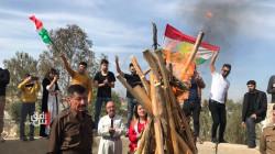 """كركوك.. إيقاد """"شعلة نوروز"""" على وقع أنغام الدبكات الكوردية ورسالة من """"يونامي"""" للعراقيين"""