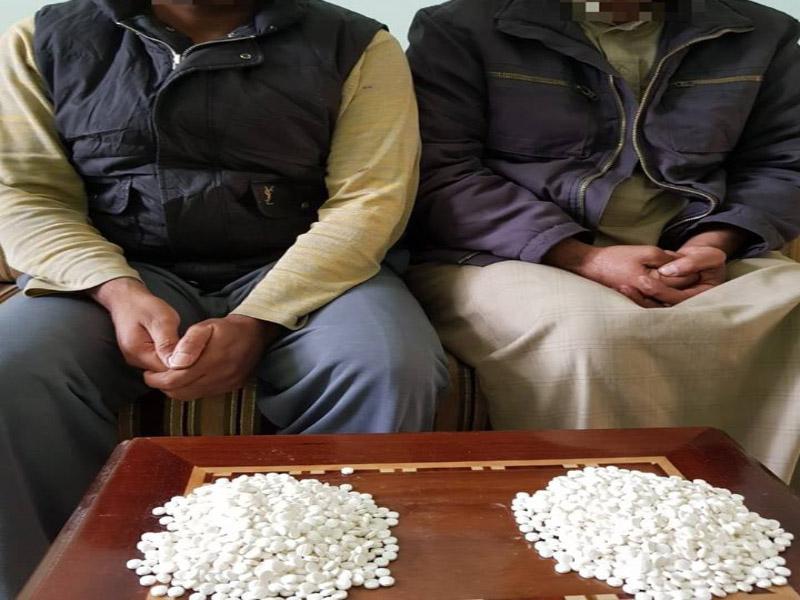 A drug dealer caught red-handed in al-Anbar