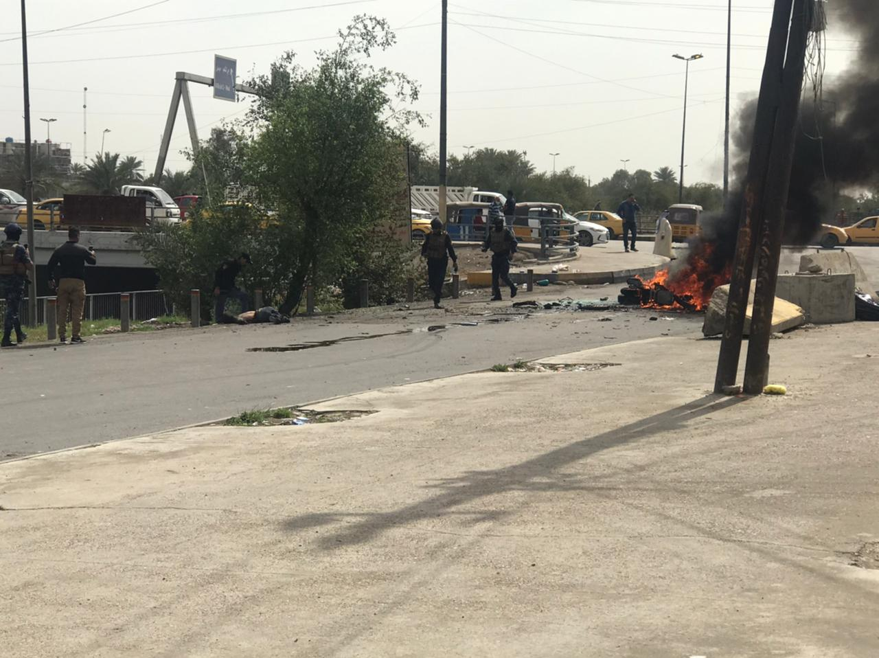 A motorcyclist killed in an explosion in Baghdad