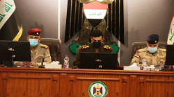 Iraqi Army Chief of Staff holds a security meeting at the Baghdad Operations Command headquarters