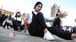 بيوم المسرح.. تقديم عرض بالهواء الطلق في أربيل (صور)