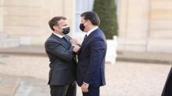 Kurdistan's Barzani arrives at Elysee Palace to meet the French President