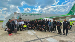 وفد المنتخب العراقي يعود الى بغداد بطائرة خاصة