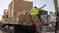 العراق يتسلم أبراج مراقبة وقطع غيارات من التحالف الدولي