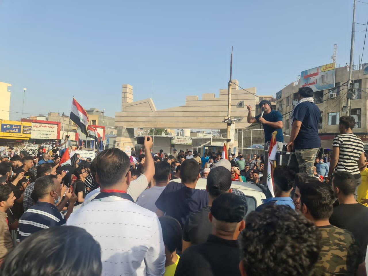 تظاهرات في واسط احتجاجا على ارتفاع الأسعار وتضرر الفقراء