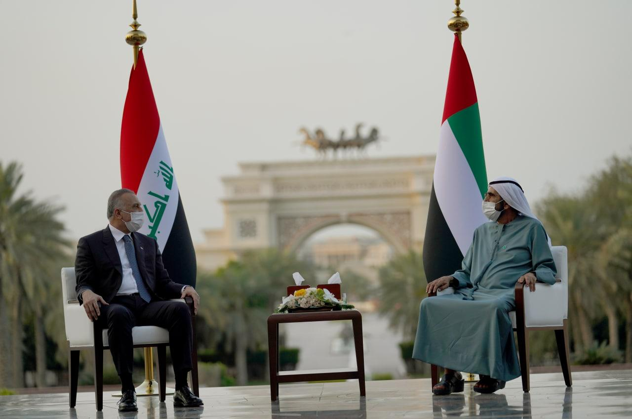 Al-Kadhimi discusses with his Emirati counterpart cooperation between the two countries