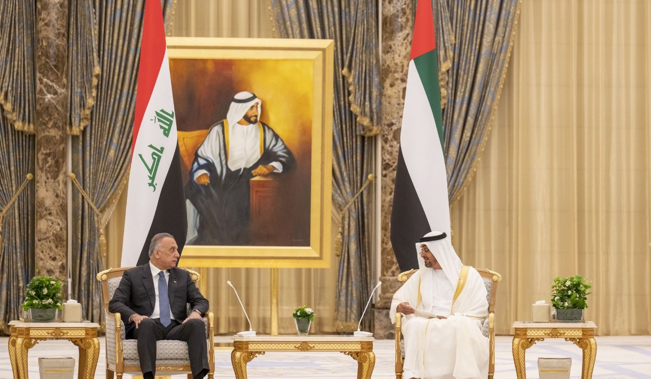 UAE's Crown Prince underlines his country's commitment to Iraq's stability upon meeting al-Kadhimi